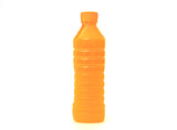 orange juice in plastic bottle
