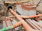 Kanalsanierung - Mauererarbeiten für neu Schächte