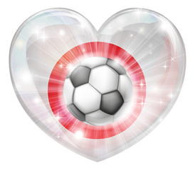 Japan soccer heart flag