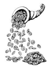 cornucopia, rain money