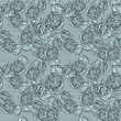 Vintage monochrome roses pattern with lace