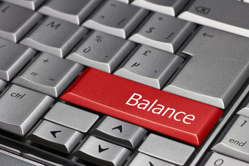 Computer key - Balance
