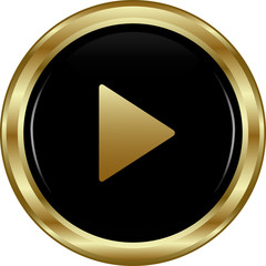 Black gold play button.