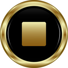 Black gold stop button.
