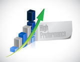 business graph. high performance illustration
