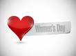 womens day heart sign illustration design