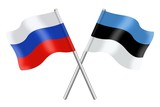 Flags: Russia and Estonia