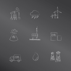 Energy,oil and gas icons