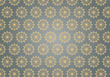 Retro Star Hexagon Pattern on Pastel Color