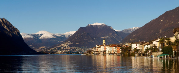Switzerland - Lake of Lugano. view on Brusino.