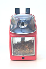 red pencil sharpener