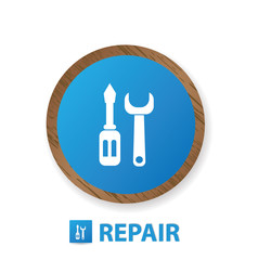 Repair sign,vector