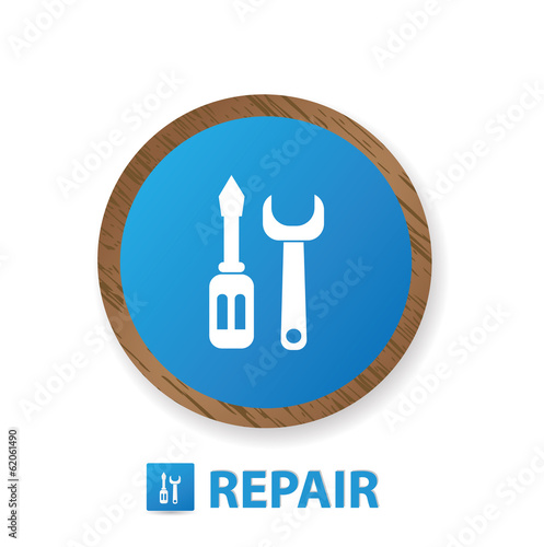 Repair sign,vector