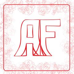 AF monogram
