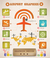 Airport info graphics,graphics design