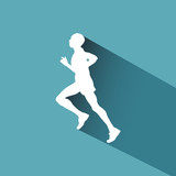 Vector logo runner
