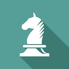 Vector Logo horse of chess