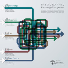 Infographics Knowledge Management #Vector