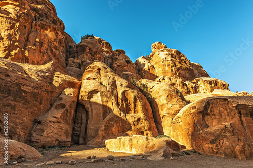 Rocky landscape in Little Petra