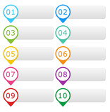Colorful buttons for website menu or design