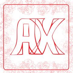 AX monogram
