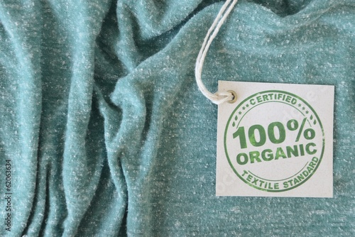 Garment made with certified bio or organic fabric label.