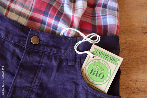 Clothes made with certified bio or organic fabric.