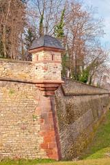 Barocker Erkerturm an der Nordbastion der Mainzer Zitadelle