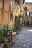 Rome street with washing line