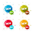 Vector Colorful Stickers - Stains With New Title Set