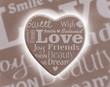 Love concept, words on an heart