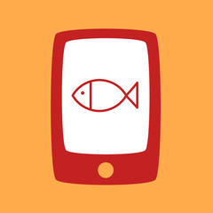 phone with a fish.