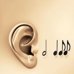 Musik hören - 3d Render