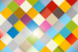 Colorful Vector Abstract Square Retro - Modern Background