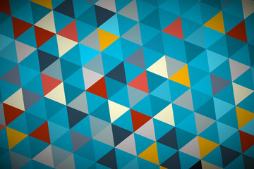 Blue Vector Abstract Triangle Retro - Modern Background