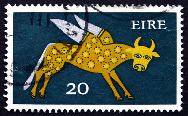 Postage stamp Ireland 1971 Winged Ox