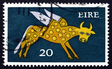 Postage stamp Ireland 1971 Winged Ox