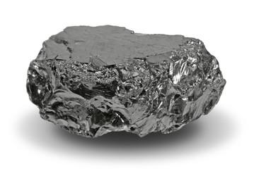 Ein Stück Kohle, Anthrazit, mit Schatten