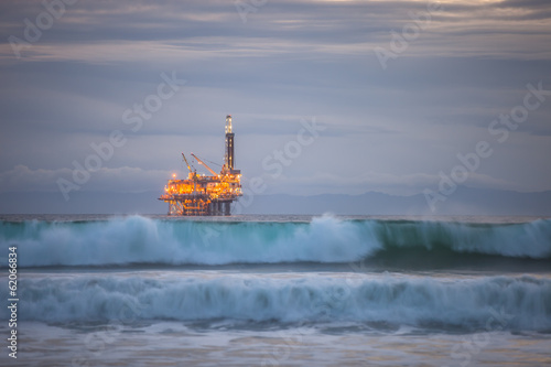 canvas print picture Pacific Rig