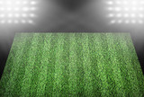 Football field in spotlights