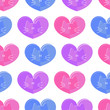 Seamless pattern romantic theme cats and hearts