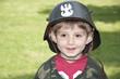 Carnival costume. Little Polish soldier.