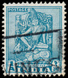 INDIA - CIRCA 1950: a stamp printed in India shows Bodhisattva,