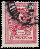 ARGENTINA - CIRCA 1945: a stamp printed in the Argentina shows J