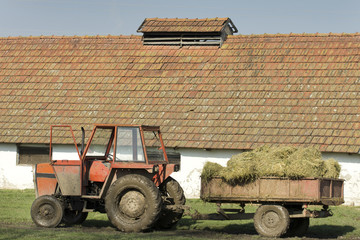 Hay in trailer