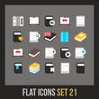 Flat icons set 21