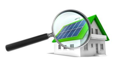 Solarhaus mit Lupe 2