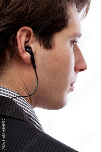 Spy with earphone