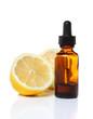 Herbal medicine dropper bottle with lemons