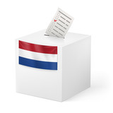 Ballot box with voting paper. Netherlands